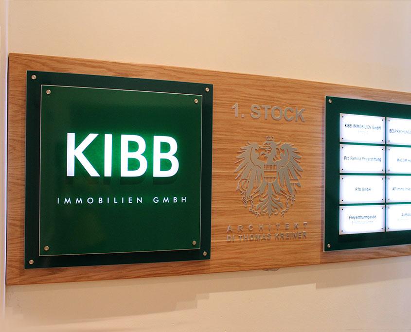 Firmenschild - Systemschild - Leuchtschild -Acrylglas Alu Verbund Gravur Folienschnitt - Karas Schilder