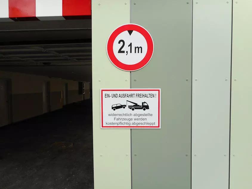 Hinweisschild - Alu Verbund Folienschnitt - Karas Beschriftungen
