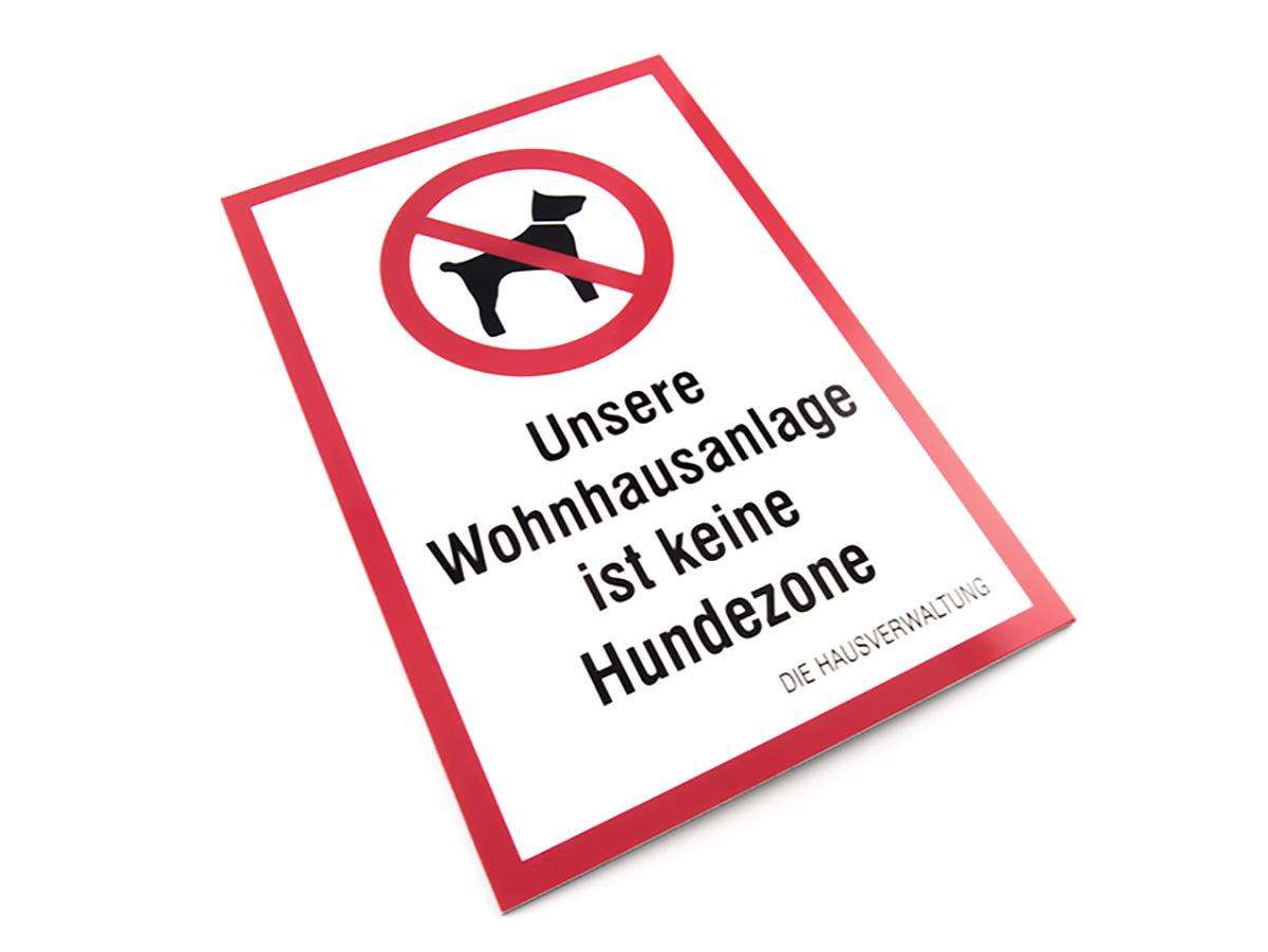 Verbotsschild - Aluverbund mit Folienschnitt - Karas Wiener Schilderwerkstatt