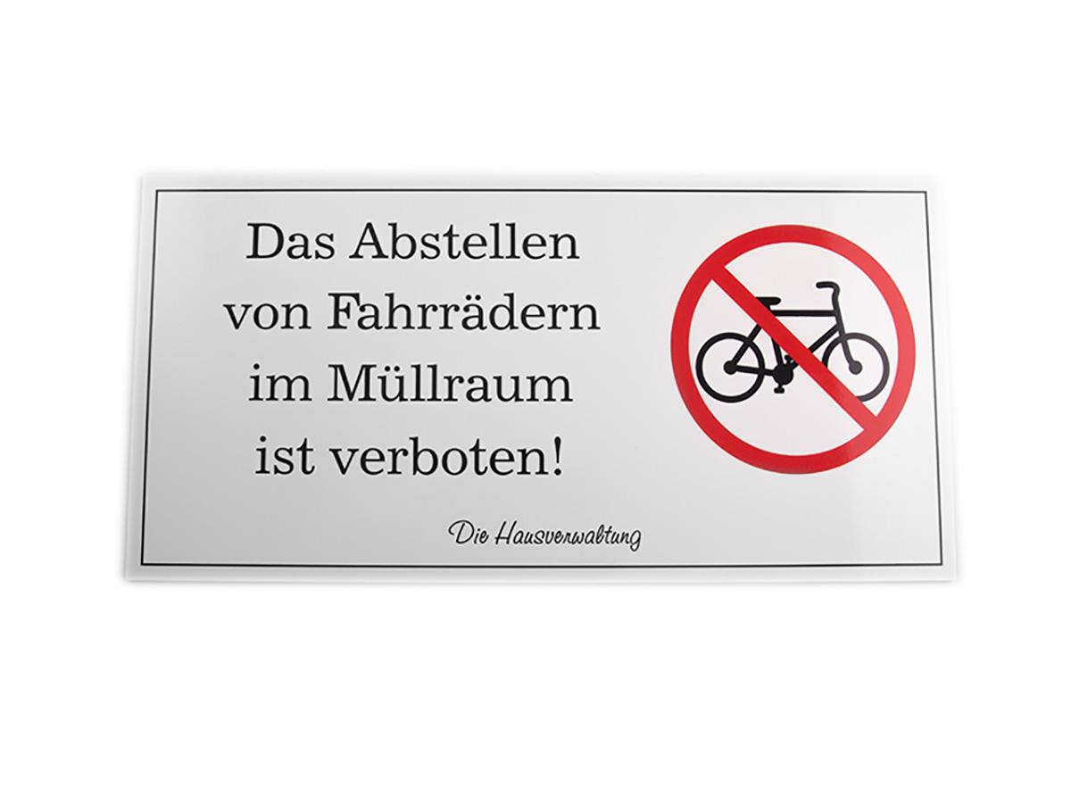 Hinweisschild - Alu Verbund mit Digitaldruck - Karas Wiener Schilderwerkstatt