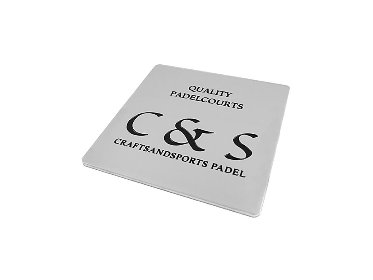 Firmenschild. Aluminium natur, graviert und lackiert- Karas Schilderwerkstatt