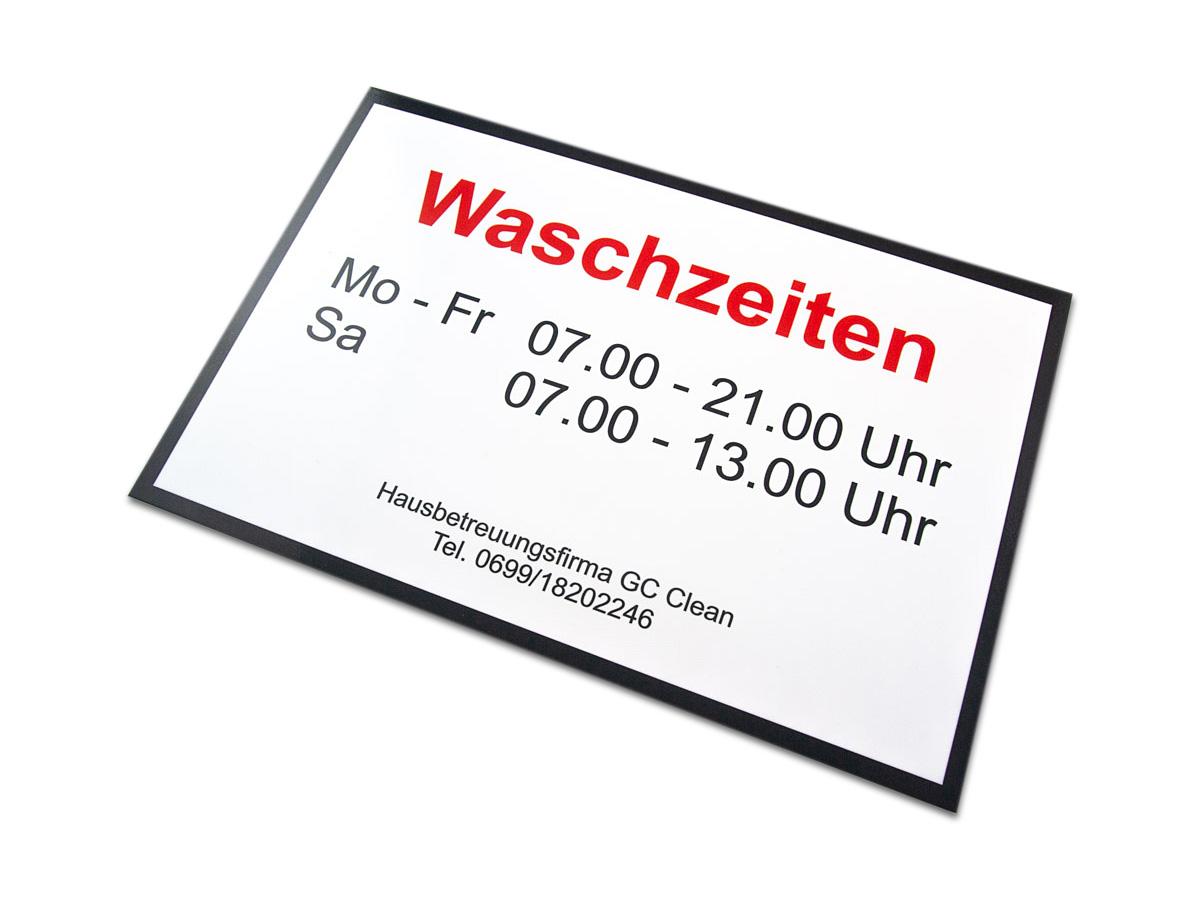 Ordinationsschild - Aluverbund in Form gefräst mit Digitaldruck - Karas Wiener Schilderwerkstatt