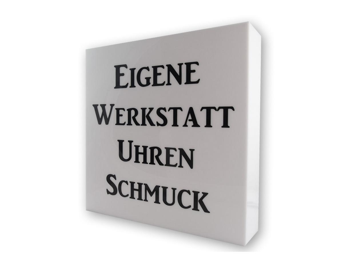 Firmenschild - Acrylglas Folienschnitt -Karas Schilder
